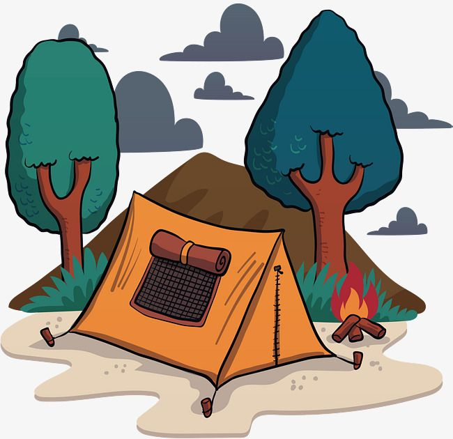 Wild Camping | Camping cartoon, Graphic design background ...