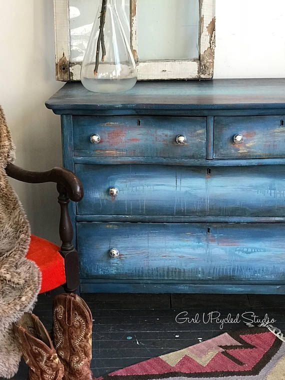 Merveilleux Girl Upcycled Painted Furniture Hand Painted Dresser Boho #ad