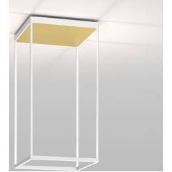 Photo of serien.lighting Reflex² Ceiling M 600 ceiling light white reflector pyramid structure gold Dali dimmable