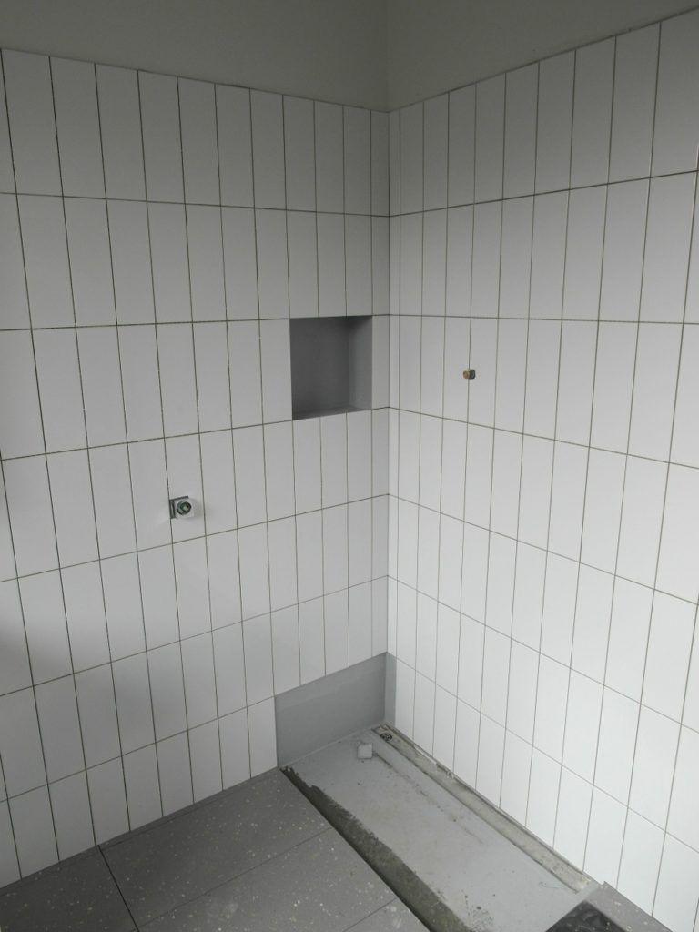 Vertical Stacked Subway Tile Bathroom Bathroom Design Ideas