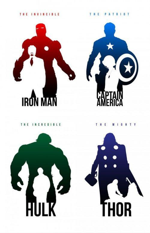 Marvel siluetas