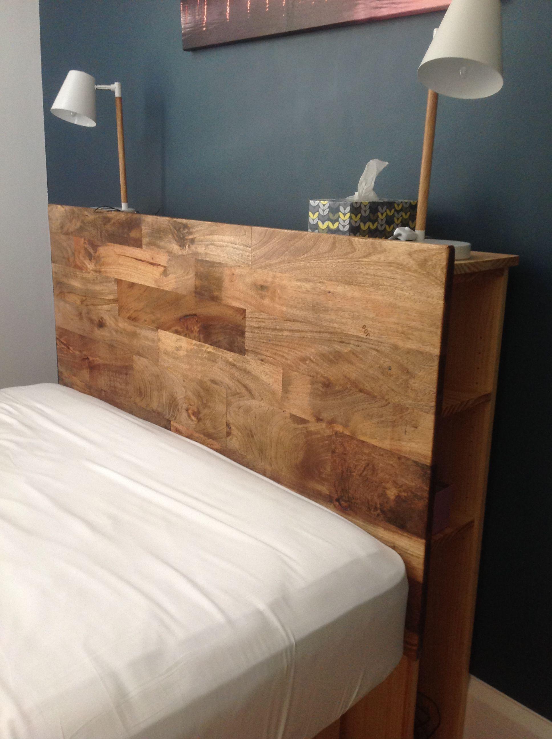 Diy Bed Head With Hidden Shelf Storage Diy Furniture Bedroom