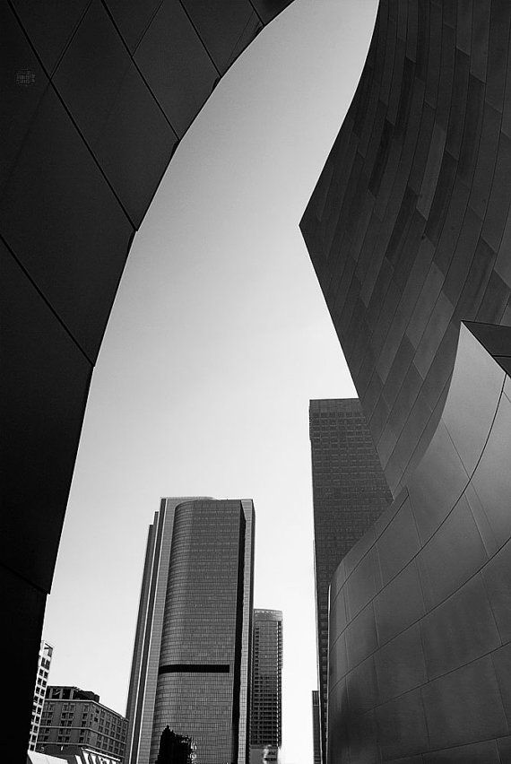 Disney Concert Hall Series  Number 5 by PhotoSutra on Etsy, $28.00