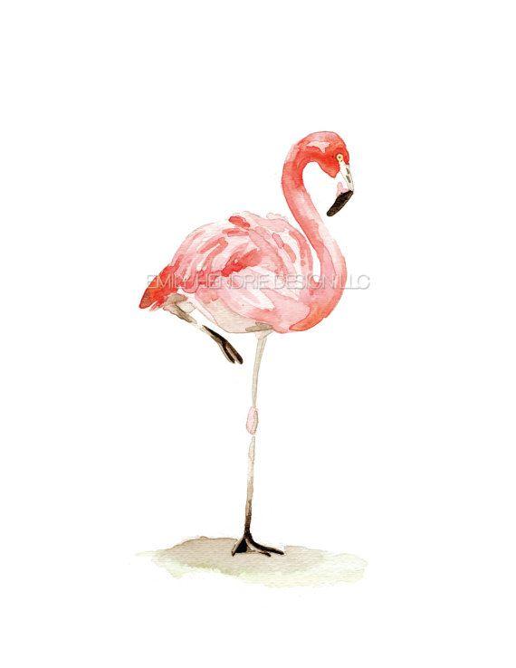 flamingo watercolor temporary tattoo bird tattoo pink flamingo tattoo watercolor tattoos. Black Bedroom Furniture Sets. Home Design Ideas