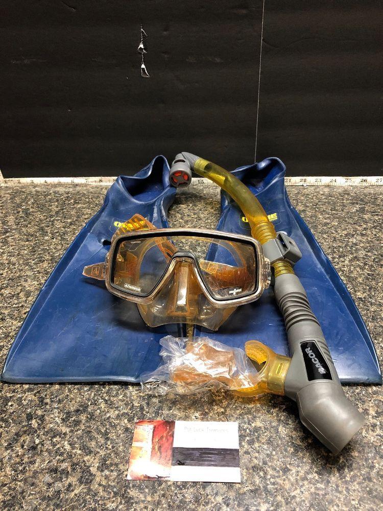 Scuba Lot One Ventura Technosub Mask One Dacor Snorkel And Otarie Us Dive Fins Ebay Snorkeling Scuba Ebay