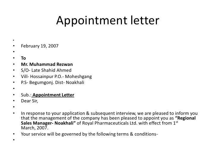 bsnsletters sample appointment letter download free documents pdf - appointment letter