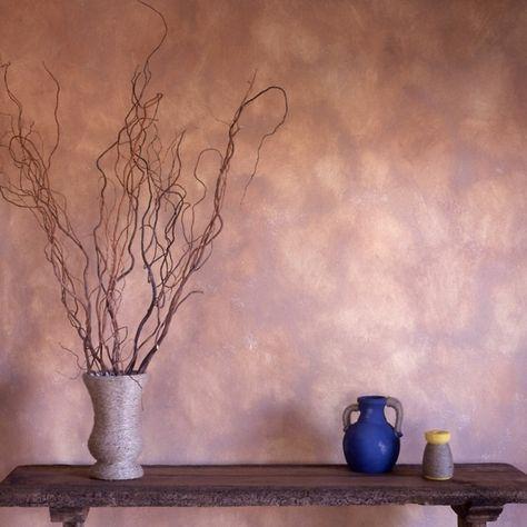 Wandgestaltung Wandfarbe lila rosa Wohnzimmer   Gehäkelte Herzen ...