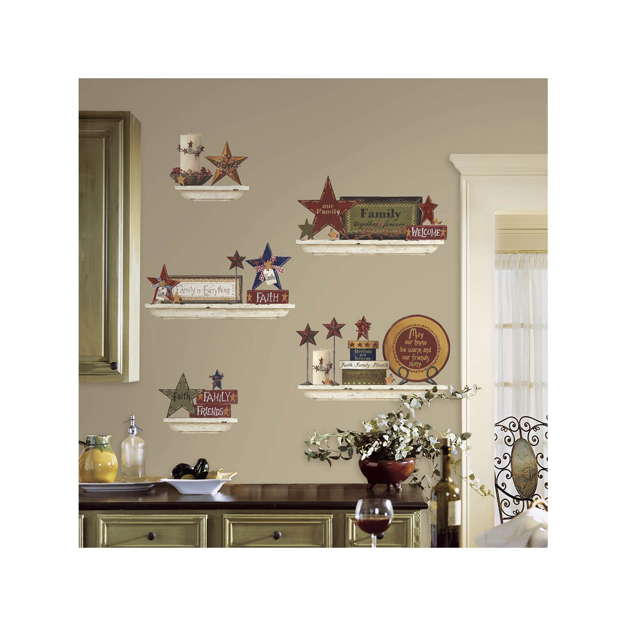 Roommates Family Friends Peel Stick Wall Decals Entryway