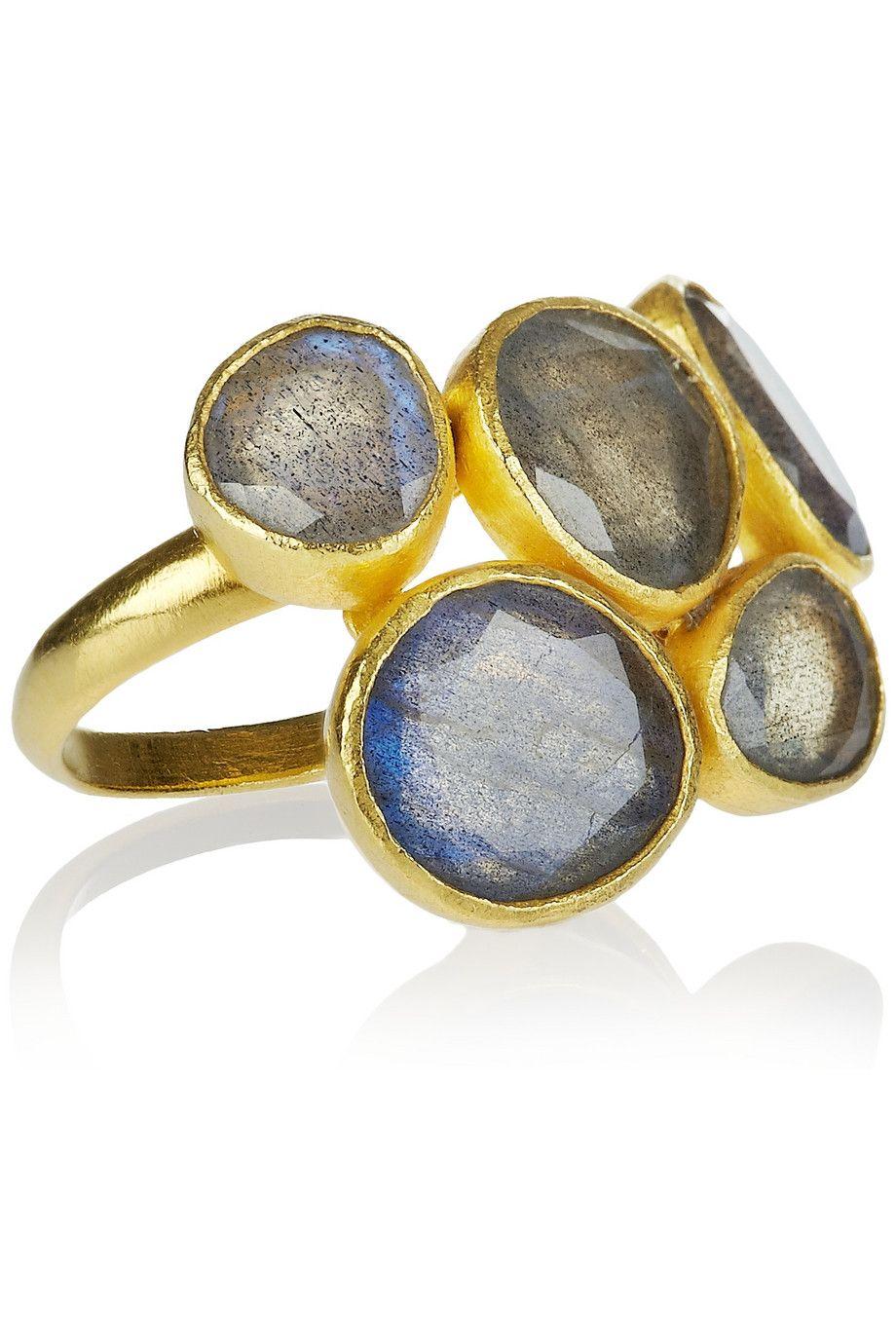 Pippa Small|18-karat gold labradorite ring