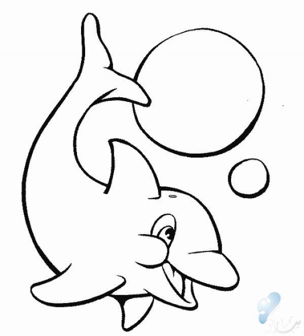 صوره دولفين يلعب بالكره للتلوين صور جديدة Dolphin Coloring Pages Animal Coloring Pages Free Coloring Pages