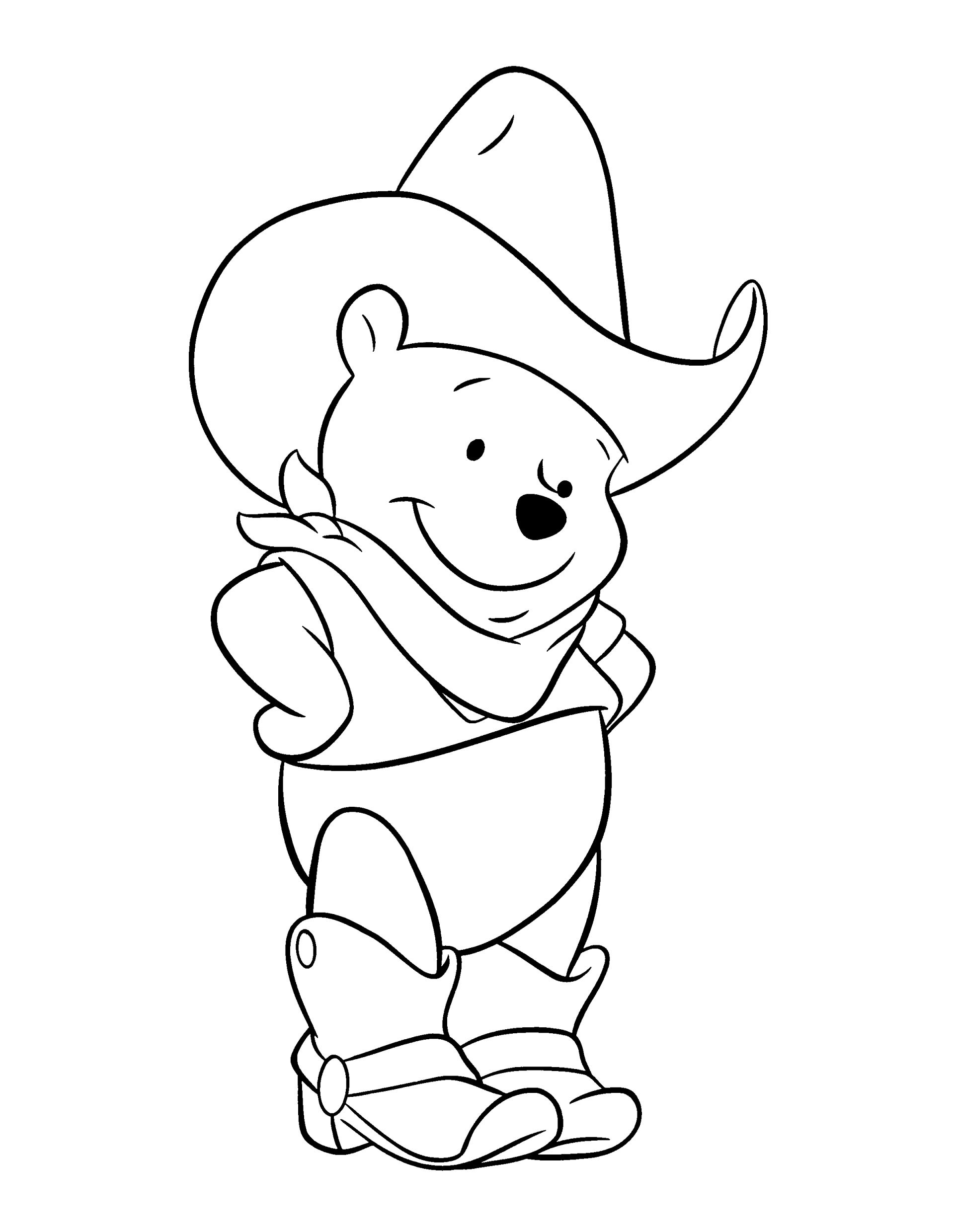 winnie the pooh coloring pages car cartoon cartoons color - Cartoons Coloring Pages