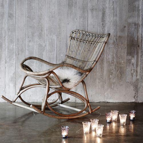 Rocking Chair En Rotin Naturel Monet Sika Design Fauteuil Decoclico Deco Fauteuil A Bascule En Rotin Fauteuil Rotin Et Chaise Balancoire