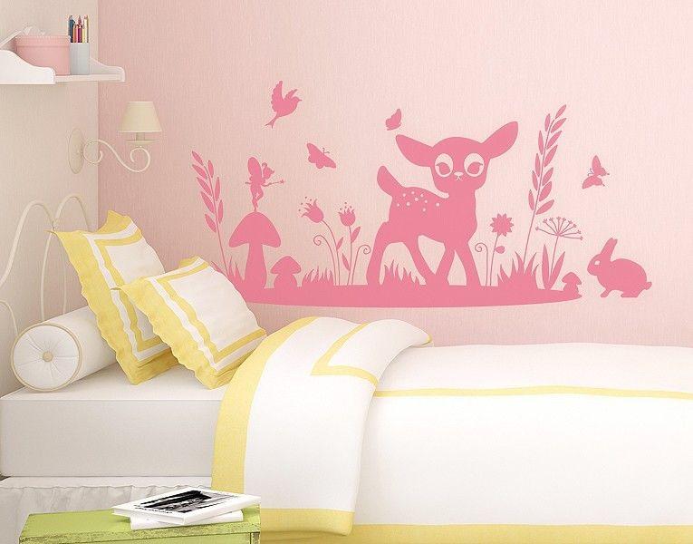 Wandtattoo bambi fantasiereich zauberhafte kinderzimmer wandtattoos wandsticker f r - Klebefieber kinderzimmer ...