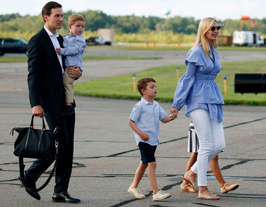 White House Senior Adviser Jared Kushner Left His Wife Ivanka Trump The Daughter Of President Donald Trump Fourth From Left