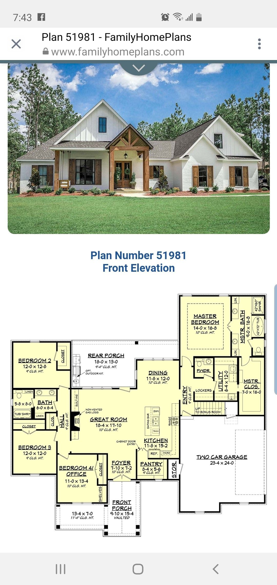 This Elevation Is Stunning Dream House Plans House Plans House Plans Farmhouse