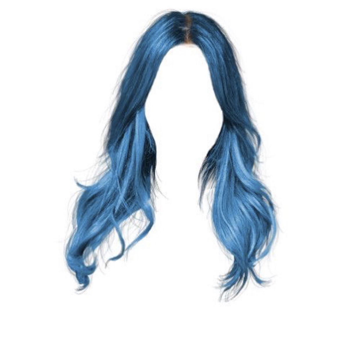 Dyed Hair Png Dyed Hair Png Png Of Blue Dyed Hair In 2020 Dyed Hair Hair Png How To Draw Hair