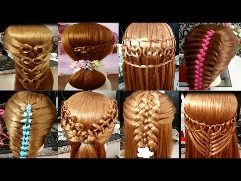 8 Peinados faciles  Peinados trenzas  Peinados de moda  EASY
