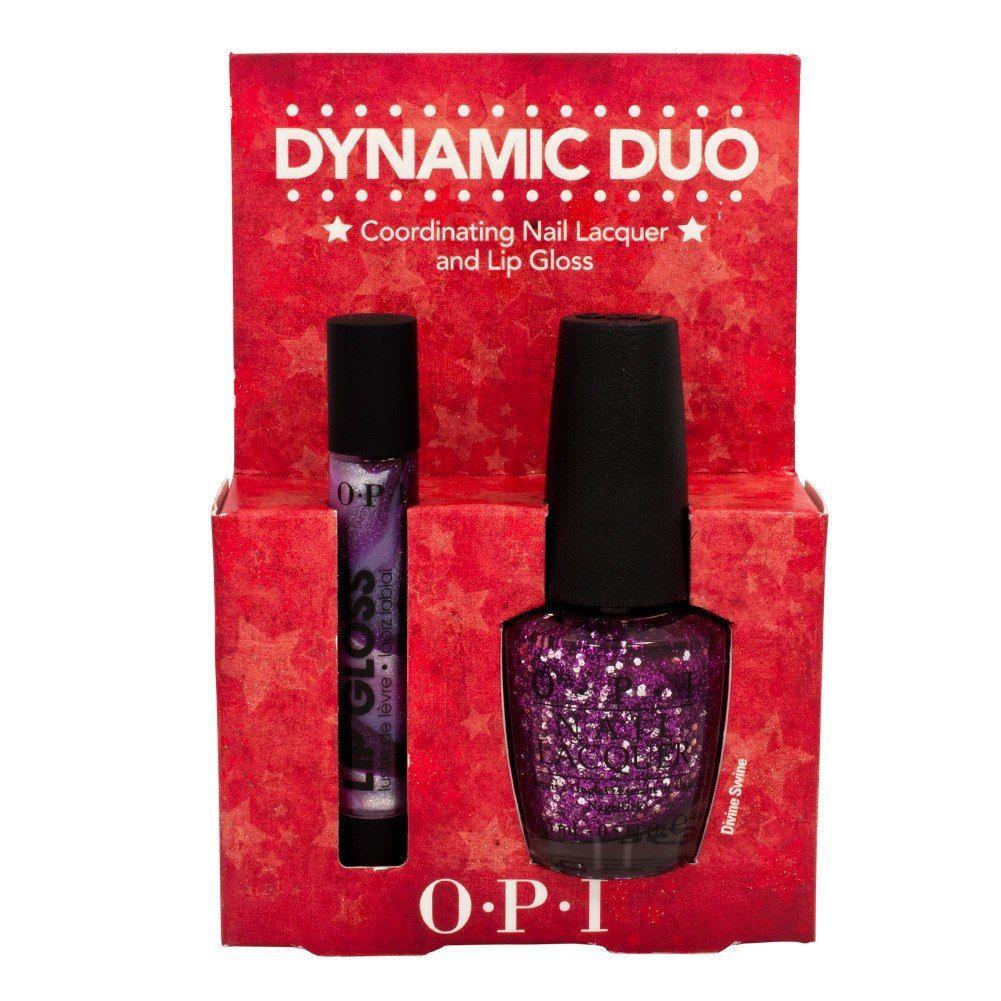OPI Dynamic Duo Polish & Lip Gloss Set Nail Salon DIVINE SWINE ...