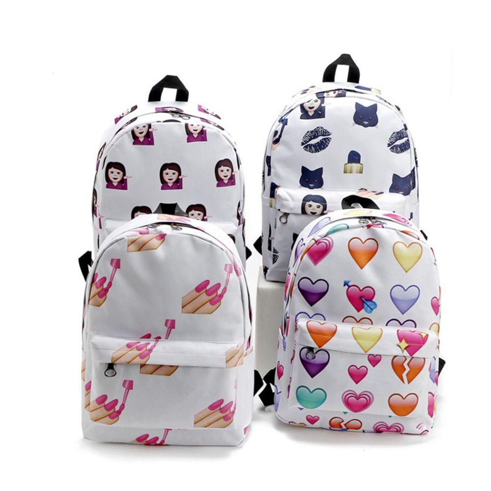 Big promotion now! Cartoon Emoji Snail Printed Backpacks ❤ liked ...