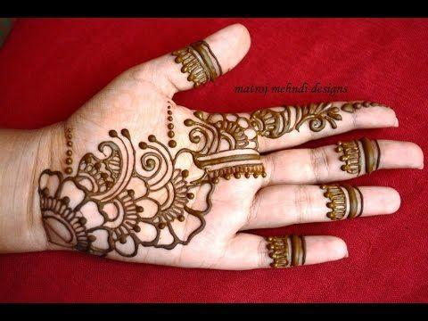 simple mehndi designs for kids full hand