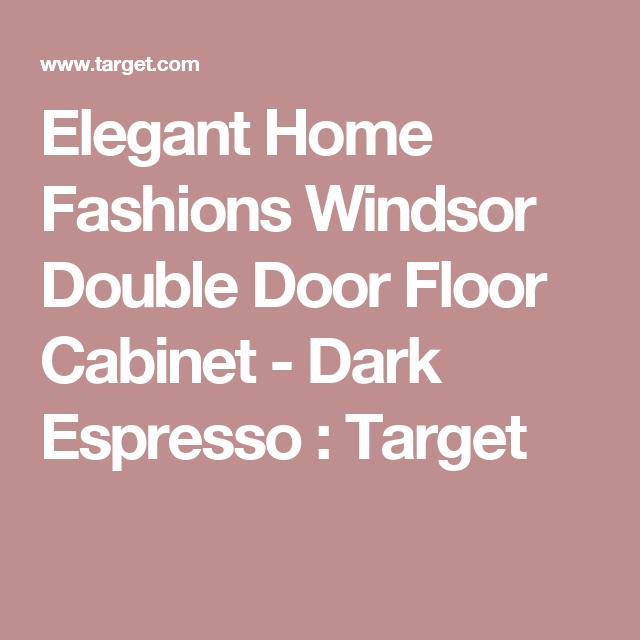 Elegant Home Fashions Windsor Double Door Floor Cabinet - Dark Espresso : Target