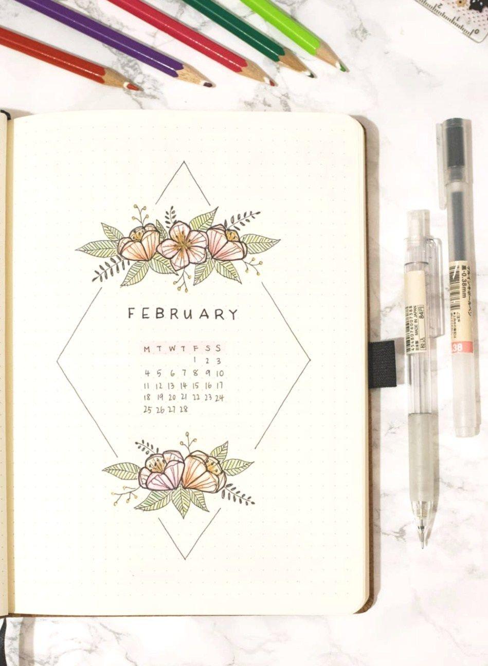 12 Gorgeous Bullet Journal Calendar Ideas