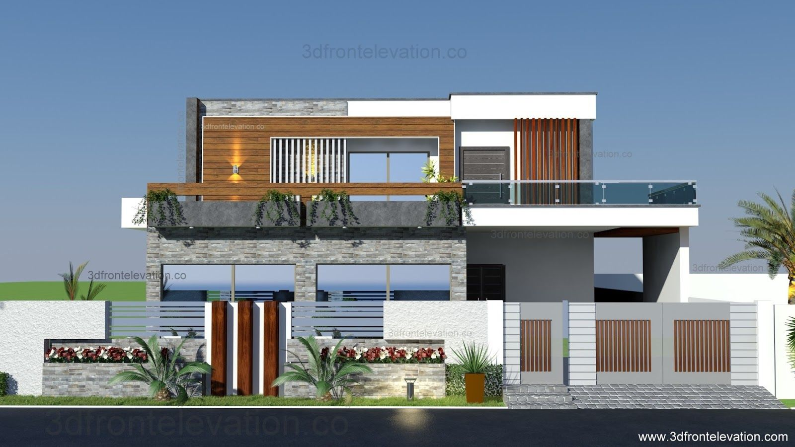 Front Design Of Very Small House Part - 50: 3D Front Elevation.com: 1 Kanal House Plan Layout 50u0027 X 90u0027 3D Front  Elevation CDA Islamabad , Pakistan | Fachadas | Pinterest | Islamabad  Pakistan, House ...