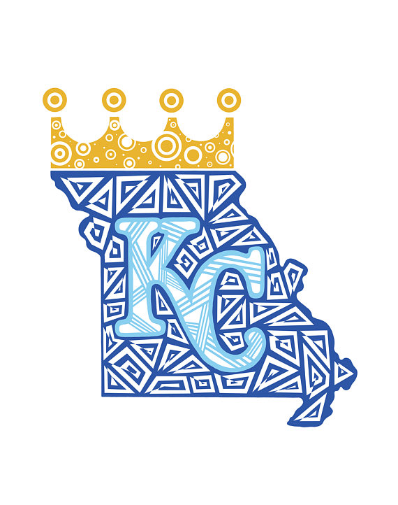96d5d9af Kansas City Royals Zentangle Print, KC Royals, Baseball, Zentangle ...
