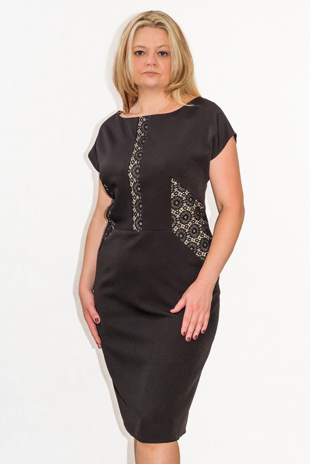 900b37c1fb Elegancka sukienka XXL KIMBERLY 40-60 duże rozmiary - XELKA odzież ...
