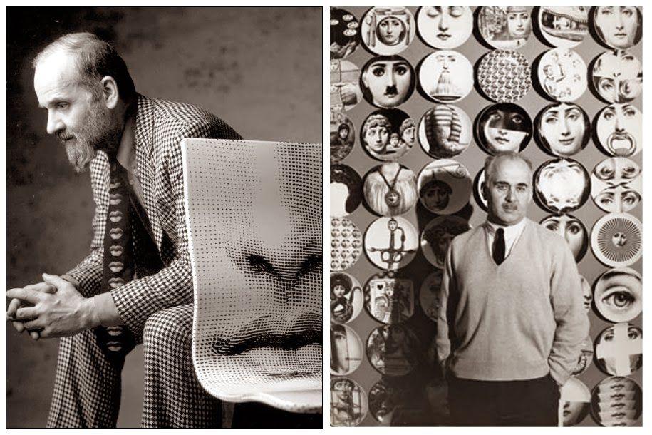 Piero Fornasetti (1913-1988), diseñador italiaño, pintor, escultor, decorador de interiores y grabador. Polifacético artista. Aun que sin duda, su símbolo por excelencia, por el que mucha gente conoce, es el rostro de Lina Cavalieri, al que él llamaba Julia. Una hermosísima soprano de ópera del que el artista italiano se enamoró. Un rostro de belleza clásica del que creo mas de 350 versiones distintas. Un amor imposible que se apoderó de él. - - - (desde el blog Srta. Moneypenny)