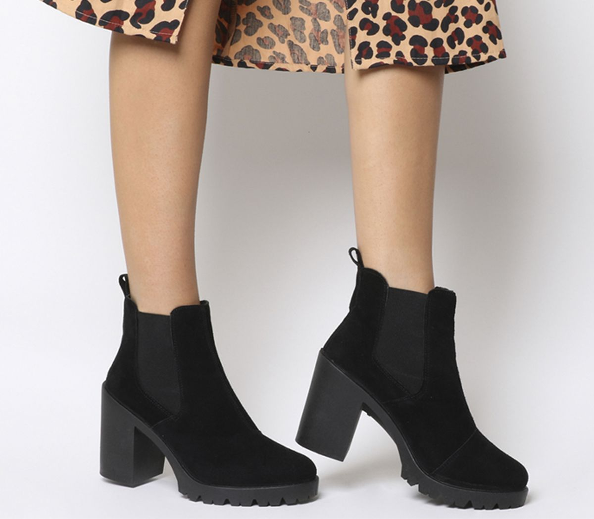 Chelsea boots, Black suede ankle boots