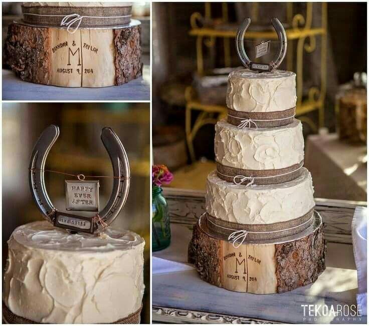 Beautiful horseshoe cake country wedding cakes western