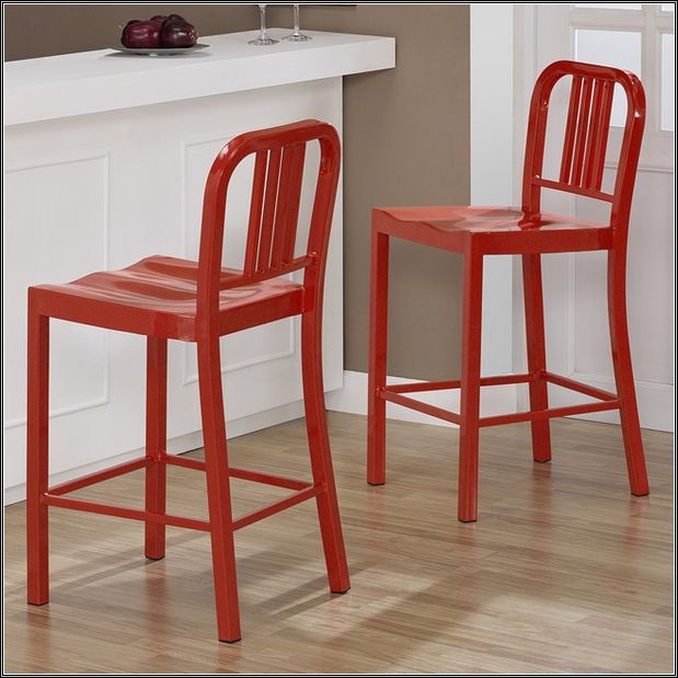 Excellent Red Wood Counter Stools Interior Decor Kitchens Metal Cjindustries Chair Design For Home Cjindustriesco