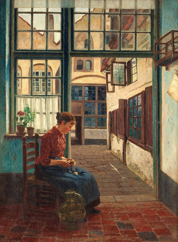 Henrik Nordenberg (Swedish, 1857-1928). At The Kitchen
