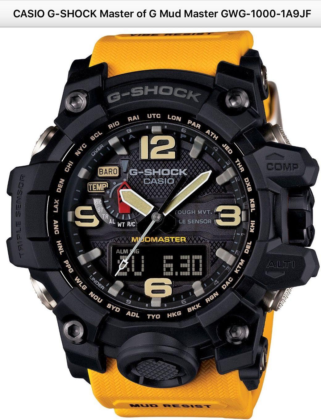 dcc17f6d3 CASIO G-SHOCK MudMaster GWG-100-1A9JF | Relojes | Reloj casio, Reloj ...