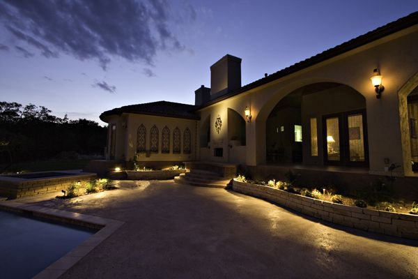 Lights Around The Far Perimeter Of This Pool Patio Is The Perfect Way To  Create Gorgeous