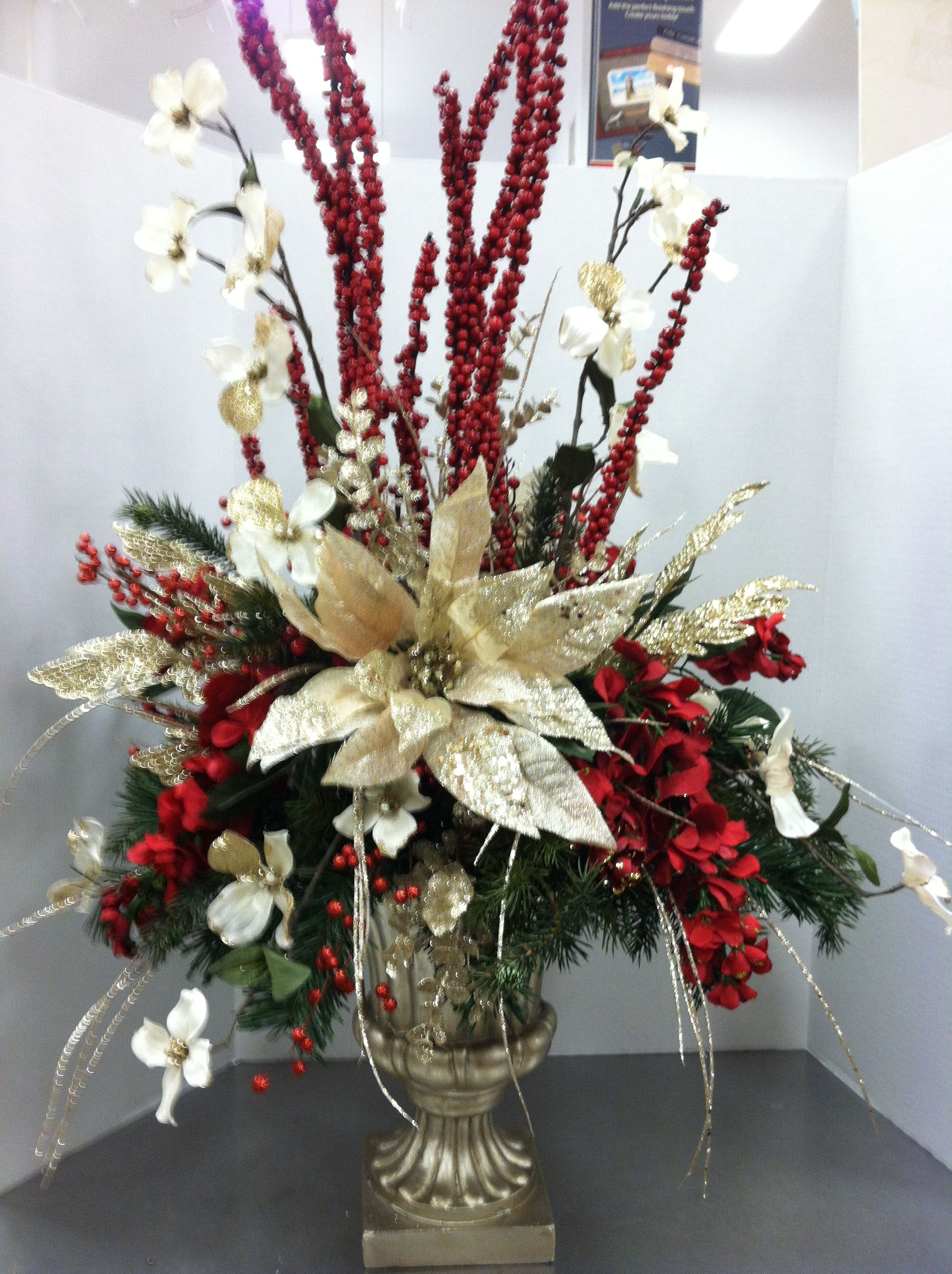 Trina, this would be beautiful for Christmas arrangement