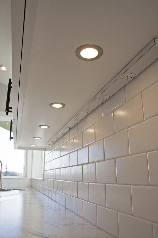 under cabinet lighting in Kitchen Craftsman with Outlet strip ...