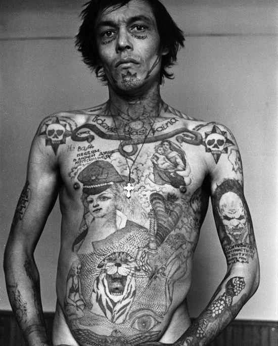 20 dark and real prison tattoo designs tattoo designs for Russian mafia tattoos