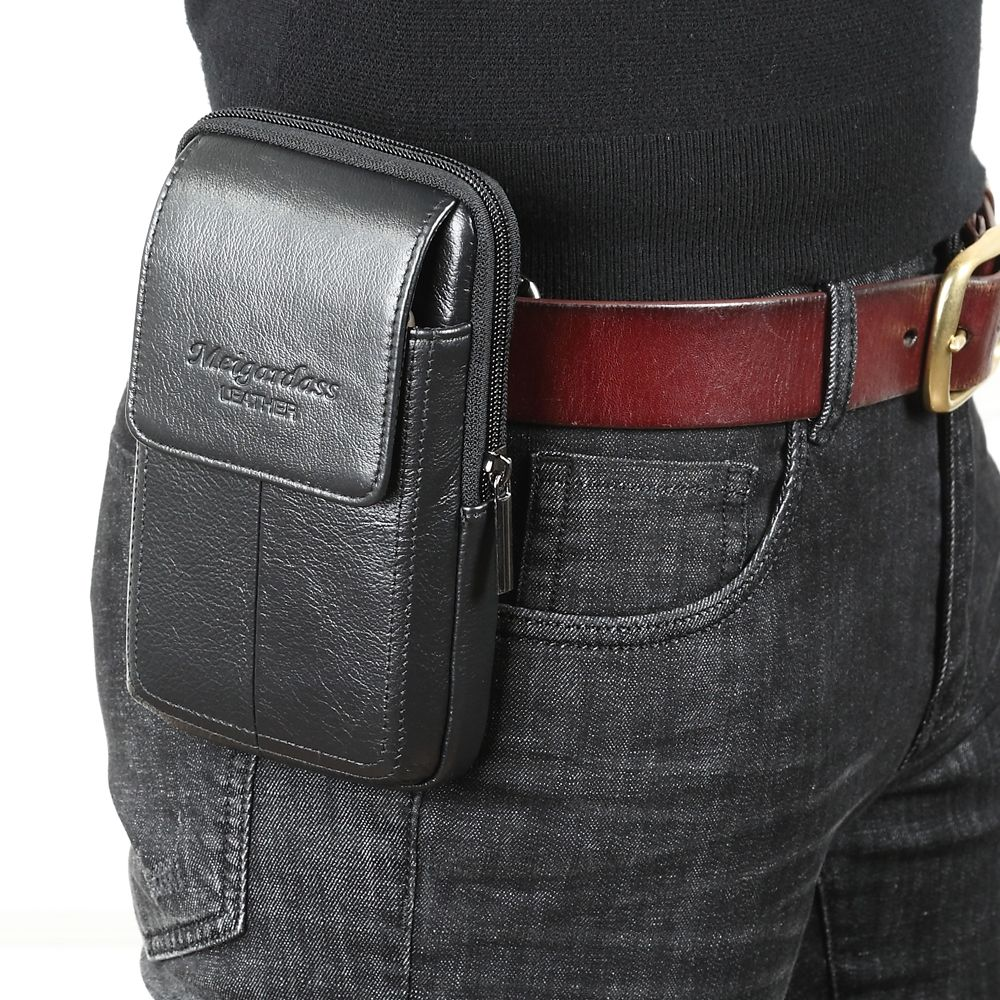Waist Bag fanny pack waist bag for men men bag leather travel fashion waist cool