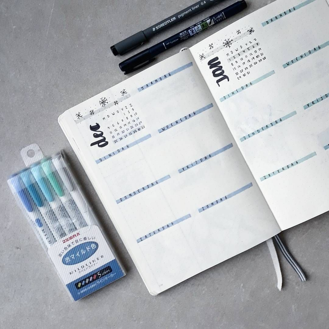 "Bulletjournaling on Instagram: ""For the next weeks I'm going to study for my exams, so my spreads are pretty simple � forgive me for my silence the upcoming week, but a…"""