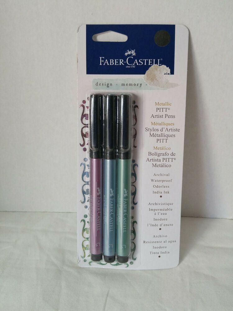 Faber castell metallic pitt artist pens ruby green blue