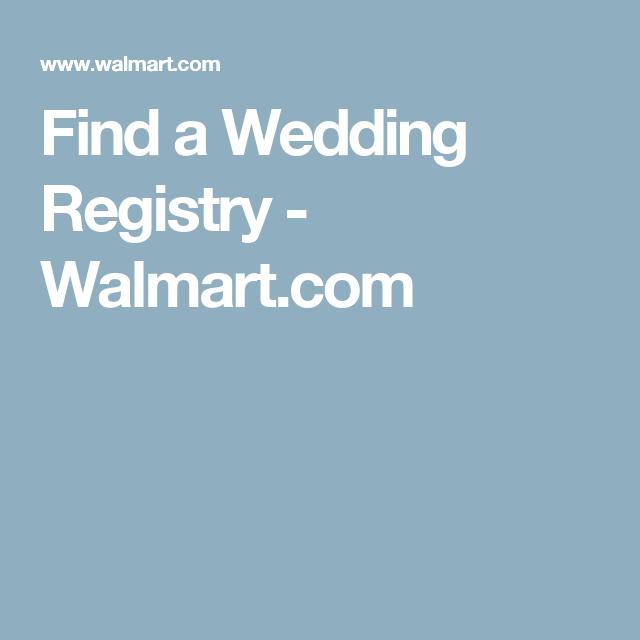 Find A Wedding Registry Walmart Com Baby Registry Wedding Registry Registry