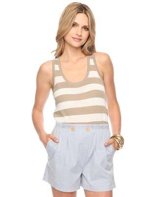 Striped Sleeveless Sweater - StyleSays