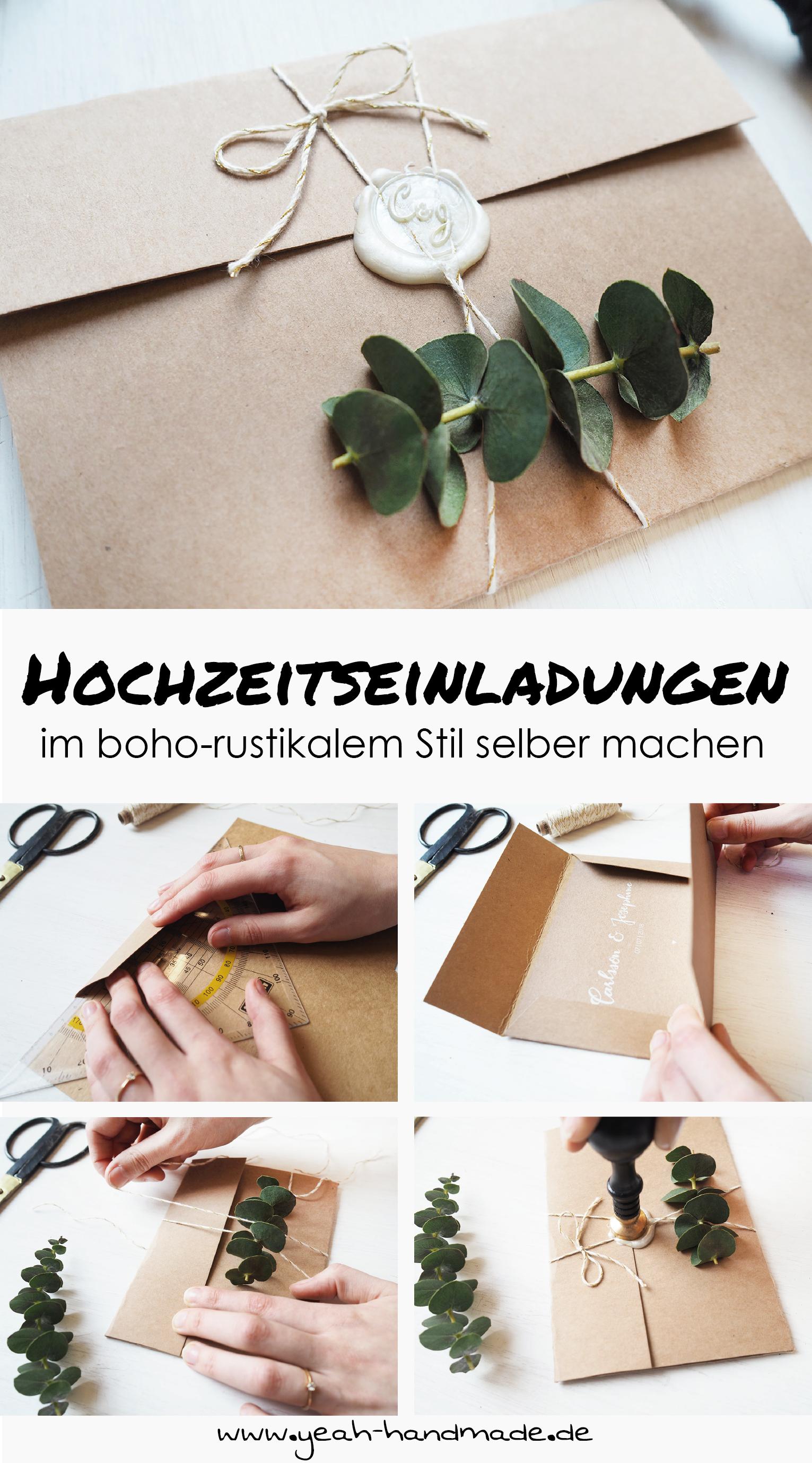 Diy Hochzeitseinladungen Im Boho Rustikalen Stil Cards Pinterest