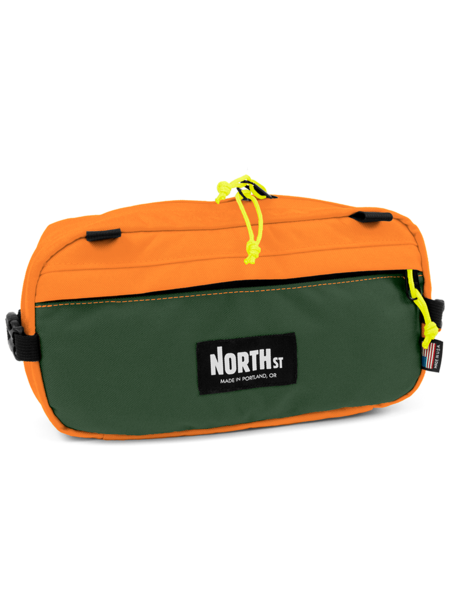 5c286527 Pioneer 12 Hip Pack - Forest Green & Orange - North St. Bags ...