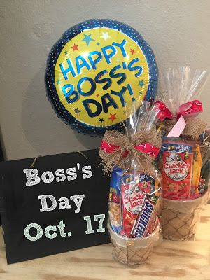 Bosss Day Gift Basket More