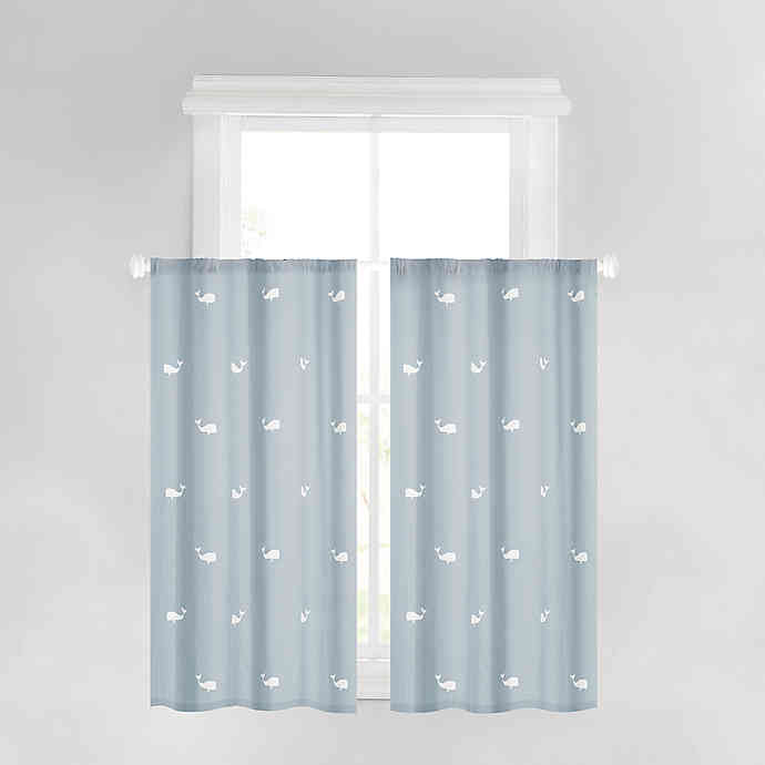 Anchors Away 45 Inch Rod Pocket Window Curtains In Navy Set Of 2 In 2020