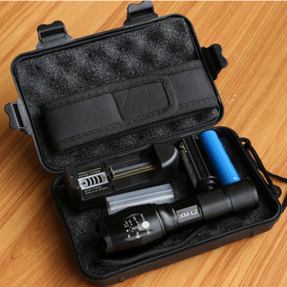 Led flashlight tactical flashlight 8000lumens cree xmt6