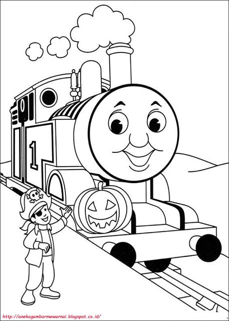 Aneka Gambar Mewarnai Gambar Mewarnai Thomas And Friends Untuk